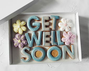 Get Well Soon Cookie Gift Box For Him