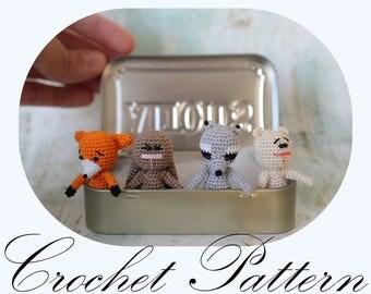 PATTERN: Crochet Animals, Crochet PATTERN, Woodland Animals, Amigurumi Animals, (English Only)