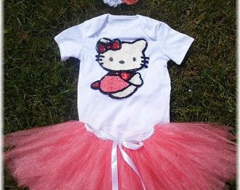Hello Kitty Pink Birthday Tutu Outfit