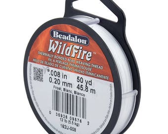 Beadalon Wildfire Beading Thread Frost .008 in (.20 mm), 50 yd (45 meters)