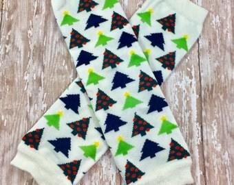 Christmas Trees Legwarmers / Leggings / Holiday Leg Warmers /  Christmas Leg warmers / Girls Leg Warmers / Toddler Leg Warmers