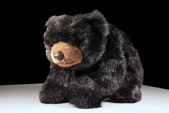 TY Paws Plush Black Bear, Retired 1996, Stuffed Animal, Plush Bear Toy