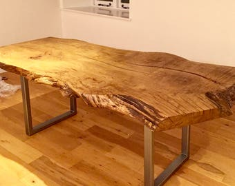 Custom live edge slab wood dining table/desk/ each