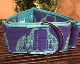 Greyhounds Fabric Dog Collar