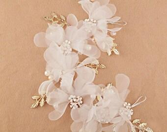 Floral Bridal Hair Headpiece Wedding Hair Accessory