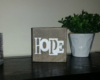 HOPE Painted on a 4x4 Gallery Canvas