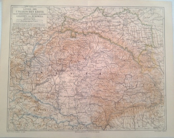 "Lithography, ""Lands of the Hungarian Crown""."