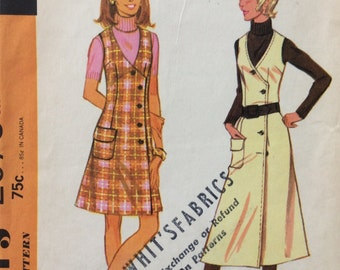 McCall's 2578 misses jumper in two lengths size 14 bust 36 vintage 1970's sewing pattern