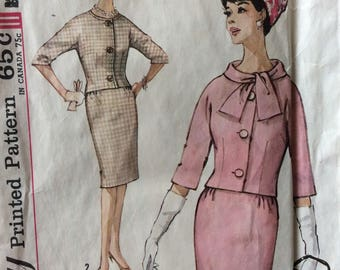Simplicity 4770 vintage 1960's misses suit jacket & skirt sewing pattern size 16 bust 36