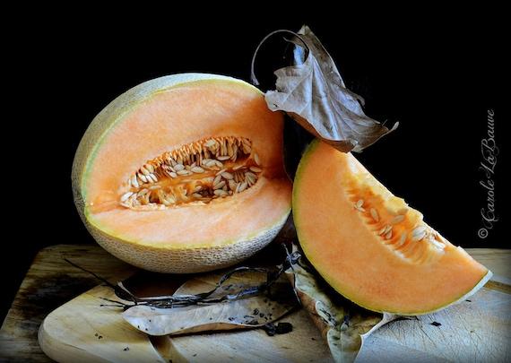 CUT CANTALOPE Still Life ~ Food Photography ~ Restaurant Art ~ Kitchen Wall Art ~ Fine art Photography ~ 12 x 18 format