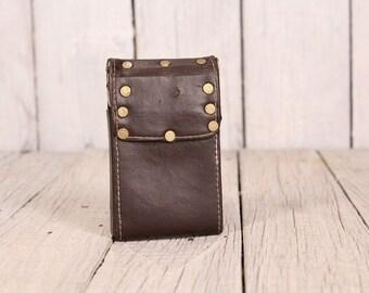 Cigarette case, Cigarette case ten, Old cigarette case, Leather cigarette case, Vintage cigarette case, Gift for smokers, Cigarette holder
