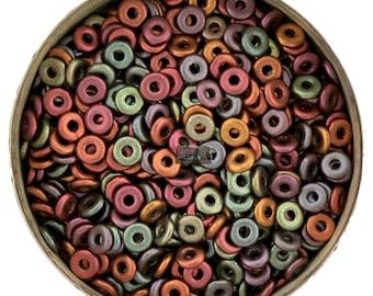 5g Czech O Beads PURPLE IRIS GOLD - 1x4mm [B46]
