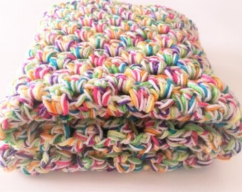 Neon Rainbow Baby Blanket, Crochet Baby Blanket, Granny Square, Chunky Baby Blanket, Baby Afghan, Baby Crochet, Ready to ship, Photo Prop