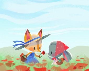 Springtime Poppies - Art Print