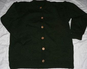 Ladies dark green Guernsey cardigan   unworn XL