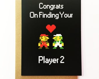 Player Two - Wedding Card