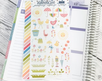 50% Off ~ S-734 || Spring / Easter Decorative Stickers for Planner (Removable Matte Stickers)