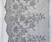 Antique black lace piece ...