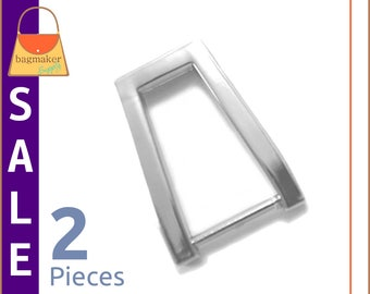 "On Sale : 5/8 Inch Rectangular Strap Rings / Loops, Nickel Finish, 2 Pieces, 5/8"" Rectangle, Handbag Purse Bag Making Hardware, RNG-AA024"