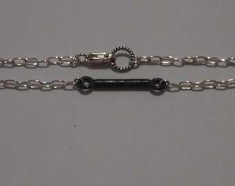 Sterling Silver Chain Bracelet With Oxidized Sterling Silver