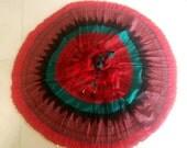 JB Gypsy Skirt, Boho Skirt, long Flowy Indian Skirt, circle skirt, printed indian skirt with border