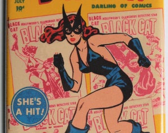 Black Cat Comic Book #6 Cover FRIDGE MAGNET Harvey Comics Shes a Hit