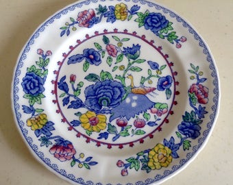 Vintage Ironstone Plate by Masons - Regency Pattern. Highly Collectible.Measures 6.75inches diameter approx.