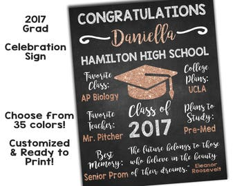 Graduation Announcement Sign High School Graduation Sign - Custom vinyl decal application instructions pdfapplication etsy