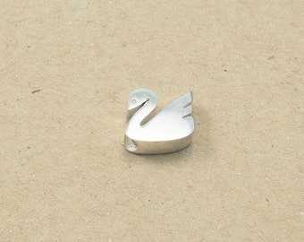 925 Sterling Silver Swan Pendant, Silver Charm Silver - 1 Piece /925S011/Silver