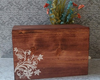 Unique Wedding Card Box, Rustic Card Box, Wood Card Box, Money Box, Can Be Personalized