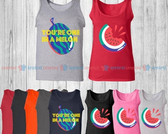 You are One in a Melon - Matching Couple Tank Top - His and Her Tank Tops - Love Tank Tops