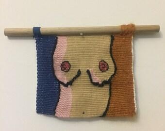 Handwoven wall hanging - Boobs