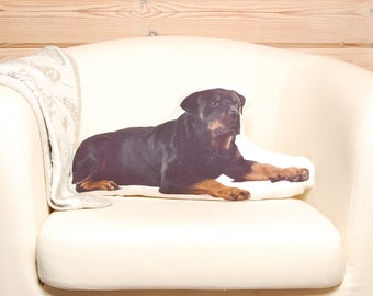 Rottweiler Pillow, dog lover gift, dog stuffed animals, animal pillow, dog shaped pillows