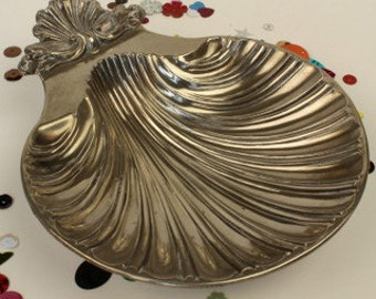 Pewter Shell Butter Dish