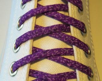 Pair of Bright fun Shoelaces - Purple