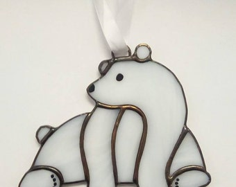 Stained Glass Polar Bear