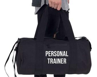 Personal Trainer Gym Bag Barrel Duffel Sports Yoga Weightlifting Motivation Training Unisex Fitness