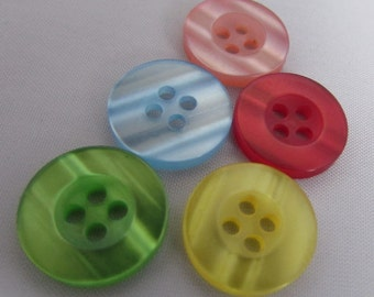 Round Lipped Buttons 15mm