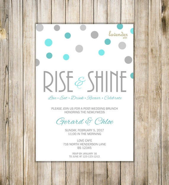 After Wedding Brunch Invitation: Items Similar To Digital RISE And SHINE Newlywed Brunch