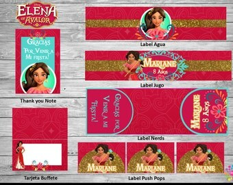 Elena Of Avalor !!DISNEY PRINCESS!!! Printable Party Set! Customize!!