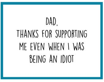 Supporting Me - Father's Day Card
