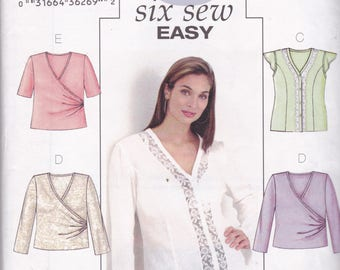 Butterick 3784  Vintage PatternWomens Tunic Top In 6 Variations Size 16,18,20 UNCUT