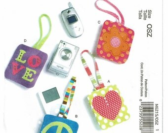 McCalls Fashion Accessories Pattern 6215 Cell Phone & MP3 Player Cases UNCUT