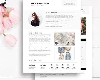 Media kit etsy media kit template 2 page blogger media kit blog media press kit template pronofoot35fo Image collections