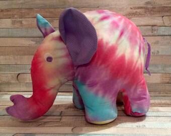 Tie Dye Elephant Plush toy