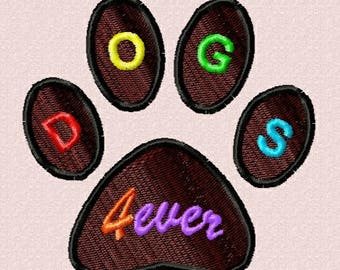 Paw 80mm - embroidery