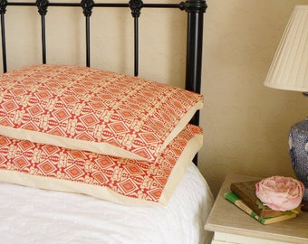 Modern Bedroom Pillow Shams Cases in Geometric Cotton Fabric