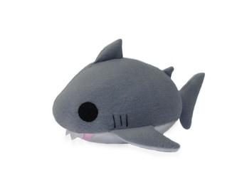 Plush Shark PDF, Shark Sewing Pattern, Great White Shark Plush, DIY Shark, Shark Stuffed Animal Toy, Stuffed Shark Toy, Plush Shark Pattern,