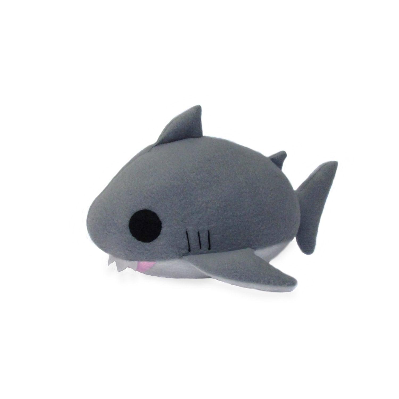 Giant Stuffed Shark plush shark pdf shark sewing pattern great white shark