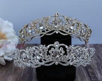 FAST Shipping!!!  Swarovski Tiara, Gold or Silver Sparkle Swarovski Tiara